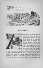 Il·lustració: Primera plana del capítol dedicat a Pratdip del llibre Les ciutats del món (1948), de Josep Iglésies.