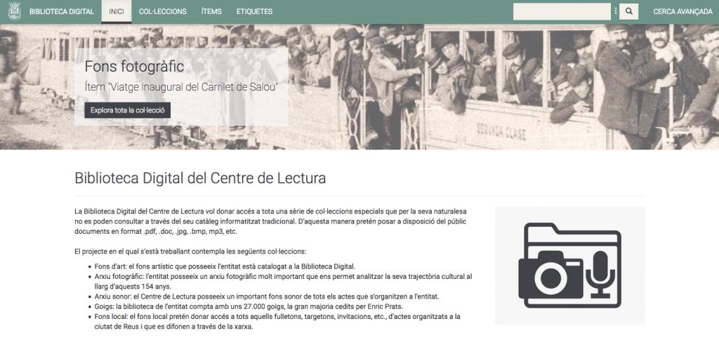 La Biblioteca Digital del Centre de Lectura, un projecte pel segle XXI