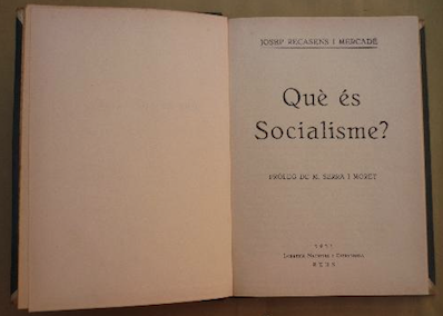 Josep Recasens i Mercadé, intel·lectual i polític