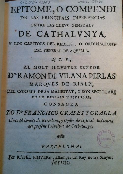 Francesc Grases Gralla, i el seu Epítome…