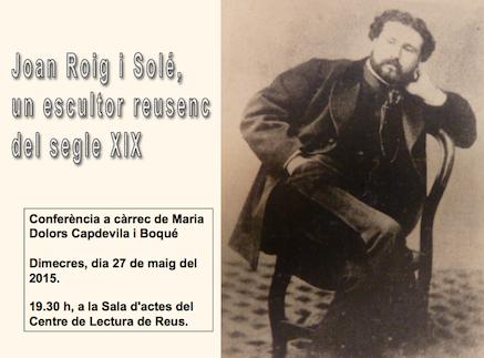 Joan Roig i Soler i l'escultura «Laboremus»
