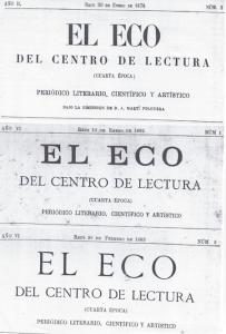 Fig. 16. Capçaleres. El Eco, 1878 i Revista 1901. Autor desconegut.