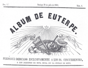 Fig. 17. Capçalera. Álbum de Euterpe, 1862. Autor desconegut.