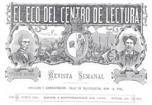 Fig. 18. Capçalera. El Eco, 1879. Autor desconegut.