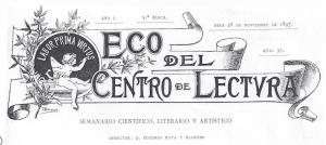 Fig. 19. Capçalera. El Eco, 1897. Tomàs Bergadà.