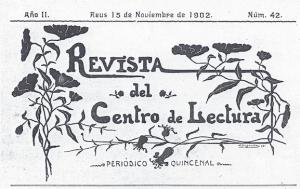 Fig. 21. Capçalera. Revista, 1902. Domènec Sugrañes.