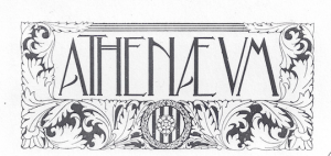 Fig. 22. Portada. Athenaeum, 1910. Autor desconegut.