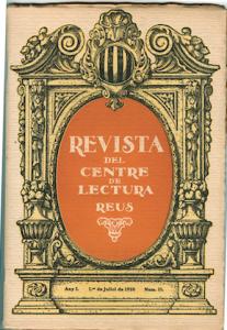 Fig. 23. Portada. Revista, 1920. Josep Rocarol.