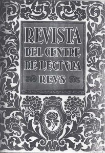 Fig. 25. Portada. Revista, ca. 1920. Josep Rocarol.