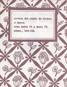 Fig. 31. Portada. Revista, 1979. Col·lectiu 2 de disseny de la RCL.