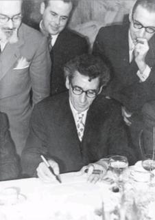 Sopar d'homenatge a Joan Rebull al Centre de Lectura de Reus el 1951