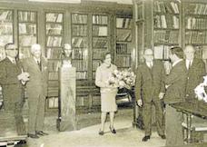 Inauguració del bust de Pompeu Fabra, maig de 1966
