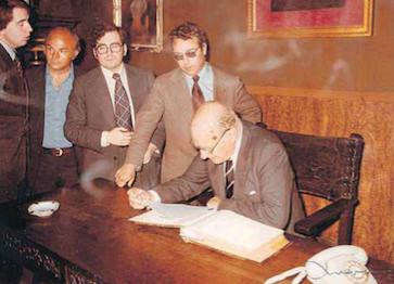 Josep Tarradellas va visitar el Centre de Lectura l'any 1978