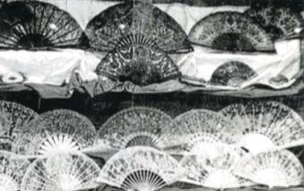 Exposició de ventalls al Centre de Lectura l'any 1949