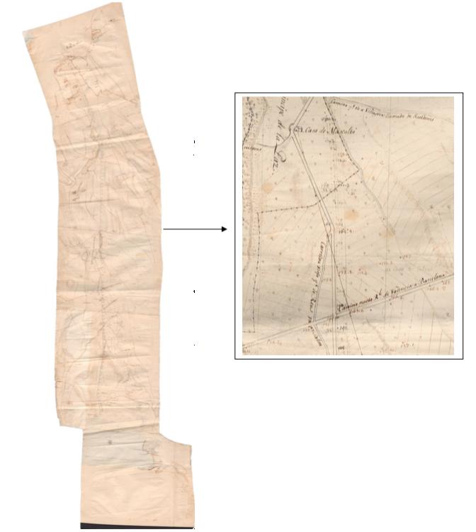 Mapa de l'espai que ocupava el canal entre Salou i Reus