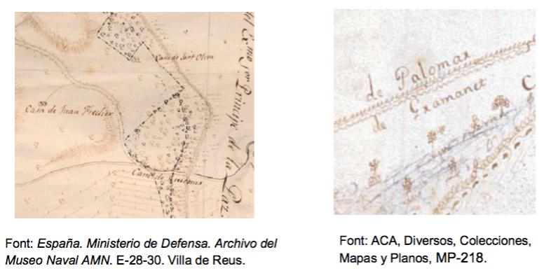 Comparativa de la tècnica cartogràfica i la cal·ligrafia de Joan Soler i Faneca.