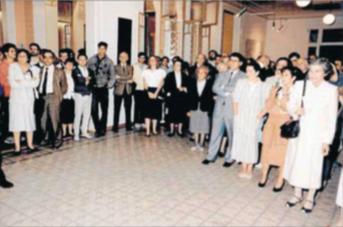 Inauguració de la Sala Vidal Llecha l'any 1987