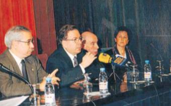 Miquel Martí i Pol, el 18 de novembre de 1999 al Centre de Lectura