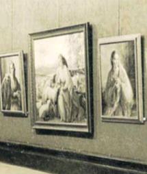 Exposició del pintor tortosí Juli Moisés a la sala Fortuny del Centre de Lectura l'any 1949
