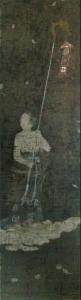 Fig.8 Reproducció en gravat a color de Shan-tsai, l'acòlit de Kannon, protagonista del Sutra Avatamsaka