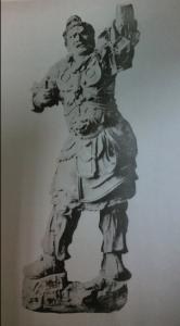 Fig. 12 Reproducció en fototípia de l'escultura de Virudhaka per Jitsurgen