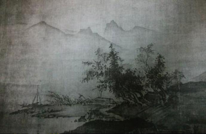 Fig. 20, Reproducció en fototípia d'un dels paisatges del mestre xinès Hsia Kuei, Xina, dinastía Song, s.XIII.