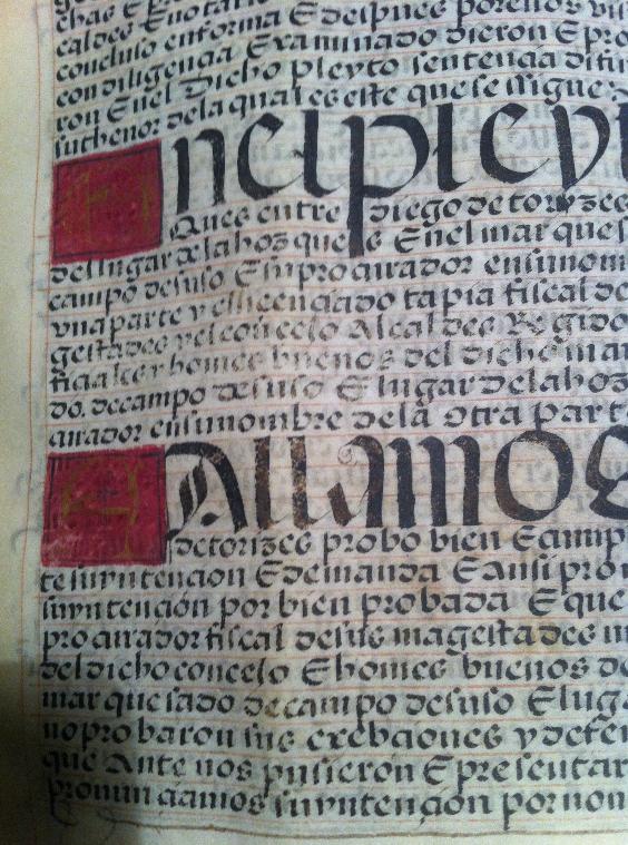 Carta executòria d'hidalguia de Diego de Torices