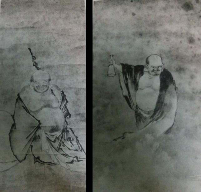 Reproducció en fototípia de Putai (esq.) i Pu'hua