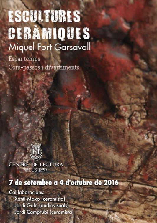 Catàleg de l'exposició de Miquel Fort Garsavall al Centre de Lectura