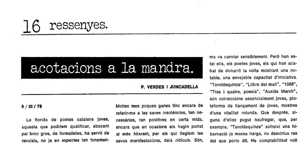 Qui era Verdés i Juncadella? Un comediant? Un escriptor?